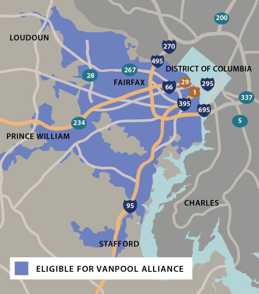 Vanpool Alliance Service Area